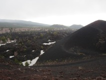 Barren landscape at Mount Etna