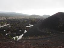 Barren landscape at Mount Etna