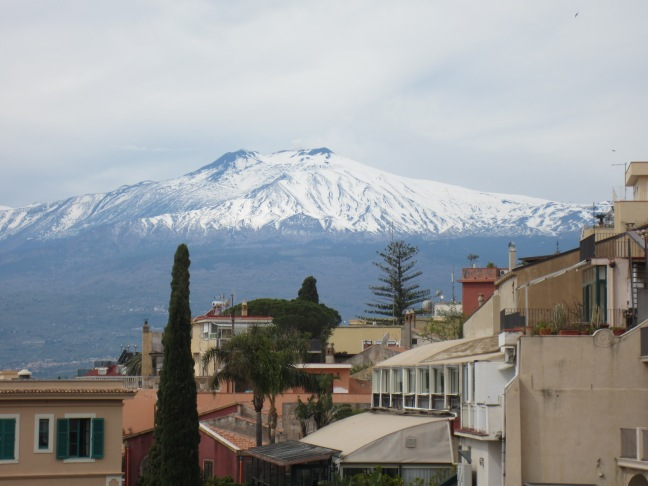Views of Mount Etna from Taormina