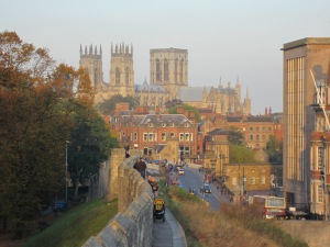 View of York Minster from the city walls
